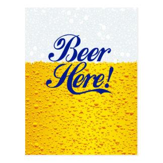 ¡Cerveza aquí! Tarjetas Postales