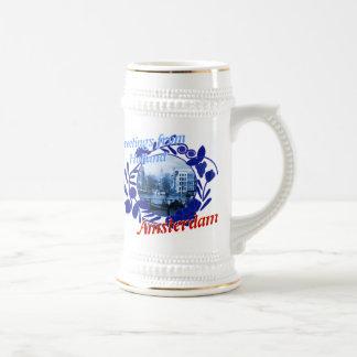 Cerveza azul Stein de Delft Amsterdam Holanda Jarra De Cerveza
