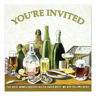 Cerveza Champán, ostras de la invitación del Invitación 13,3 Cm X 13,3cm
