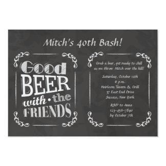 Cerveza con la invitación de los amigos invitación 12,7 x 17,8 cm