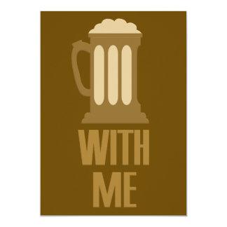 Cerveza conmigo invitación de encargo