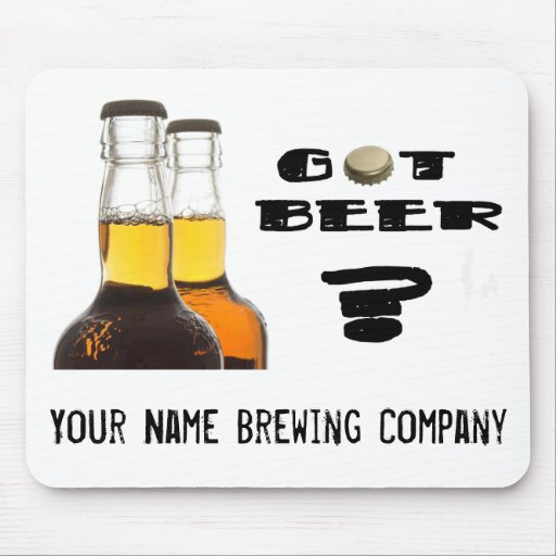 ¿Cerveza conseguida? U-Brew or Brewing Company Alfombrilla De Ratón