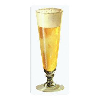 Cerveza de barril escarchada alta del vintage, invitación 10,1 x 23,5 cm