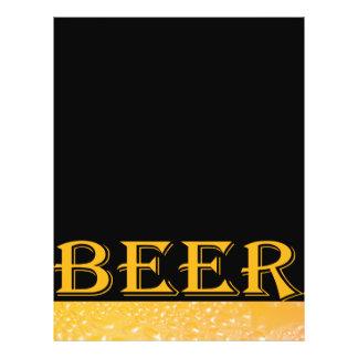 Cerveza de cristal folleto 21,6 x 28 cm