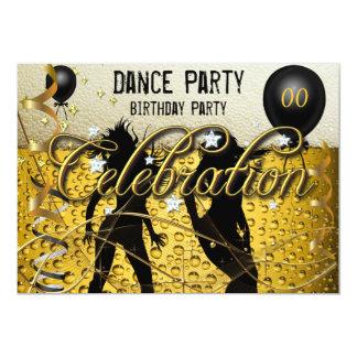 Cerveza de la celebración del baile del cumpleaños invitación 12,7 x 17,8 cm