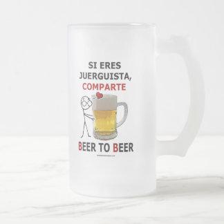 Cerveza de la cerveza 2 jarra de cerveza esmerilada