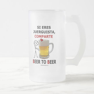 Cerveza de la cerveza 2 taza cristal mate