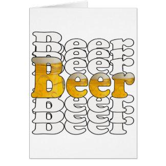 Cerveza de la cerveza de la cerveza felicitacion