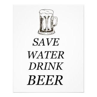 Cerveza de la comida de la bebida folleto 11,4 x 14,2 cm