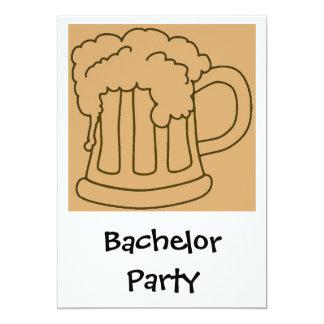 Cerveza de la despedida de soltero comunicado personal