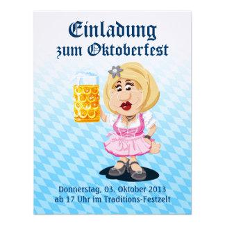 Cerveza de la mujer del dibujo animado del Dirndl
