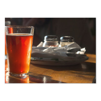 Cerveza de la sol invitación 11,4 x 15,8 cm