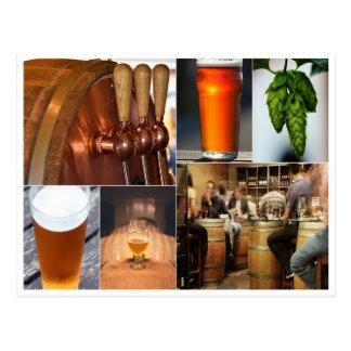 cerveza de malta del brew de la cerveza inglesa de postal