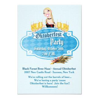 Cerveza de Oktoberfest con una invitación de la