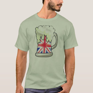 CERVEZA de UNION JACK, LA UNIÓN BEER.UK.BE ER Camiseta