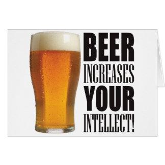 Cerveza del intelecto tarjeta de felicitación