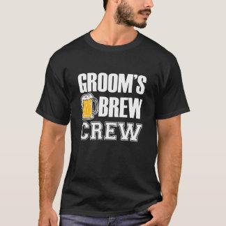 Cerveza divertida del padrino de boda del equipo camiseta
