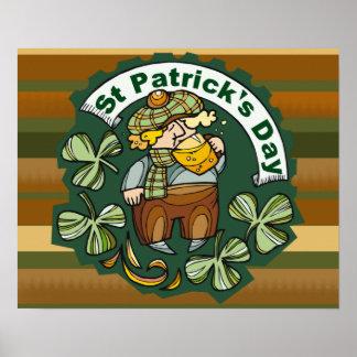 Cerveza e irlandés póster