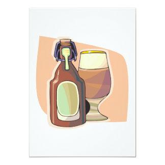 Cerveza en botella invitación 12,7 x 17,8 cm