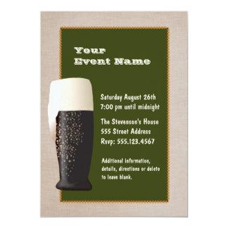 Cerveza en la invitación del proyecto invitación 12,7 x 17,8 cm