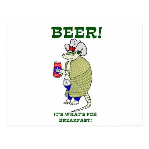 Cerveza es cuál está para el desayuno postales