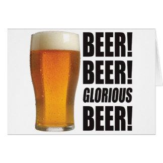 Cerveza gloriosa tarjetas