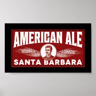 Cerveza inglesa americana poster
