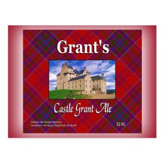 Cerveza inglesa de Grant del castillo de Grant Postal
