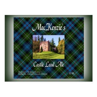 Cerveza inglesa de Leod del castillo de MacKenzie Postal