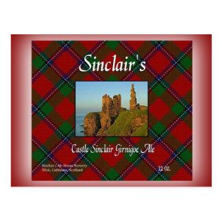 Cerveza inglesa de Sinclair Girnigoe del castillo Postal