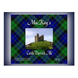Cerveza inglesa de Varrich del castillo de MacKay Postal