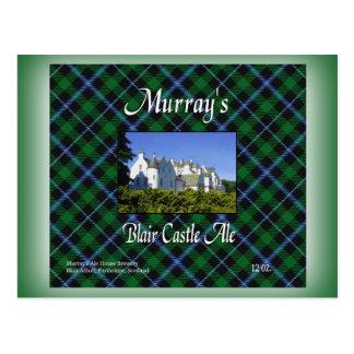 Cerveza inglesa del castillo de Blair de Murray Postal