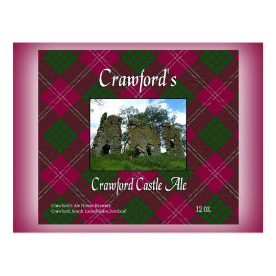 Cerveza inglesa del castillo de Crawford de Postal