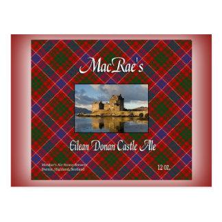 Cerveza inglesa del castillo de Eilean Donan de Postal