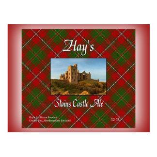 Cerveza inglesa del castillo de Slains del heno Postal