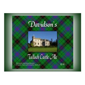 Cerveza inglesa del castillo de Tulloch de Postal