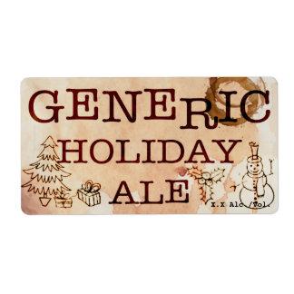 Cerveza inglesa genérica del día de fiesta etiqueta de envío