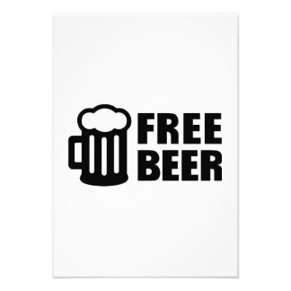 Cerveza libre invitación