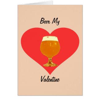 Cerveza mi tarjeta del día de San Valentín