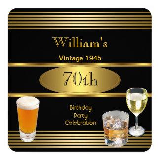 Cerveza para hombre 1945 del oro de la fiesta de invitación 13,3 cm x 13,3cm