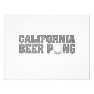 Cerveza Pong de California Comunicados Personalizados
