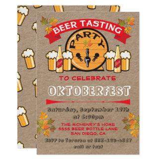 Cerveza que prueba invitaciones del fiesta de invitación 11,4 x 15,8 cm