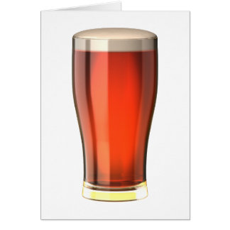 Cerveza real de la cerveza inglesa tarjeton