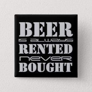 Cerveza siempre alquilada nunca comprada chapa cuadrada