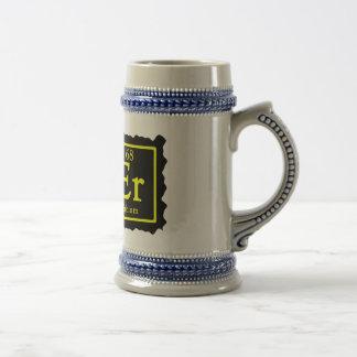 Cerveza Stein del friki de la química Taza