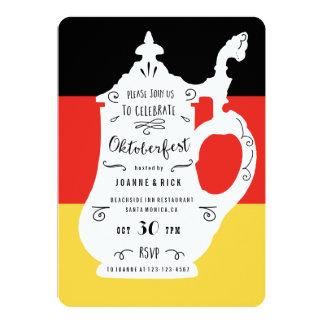 Cerveza Stein e invitación alemana de Oktoberfest