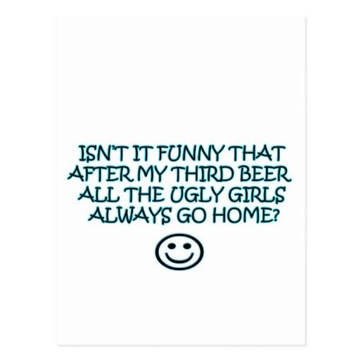 cerveza tarjeta postal