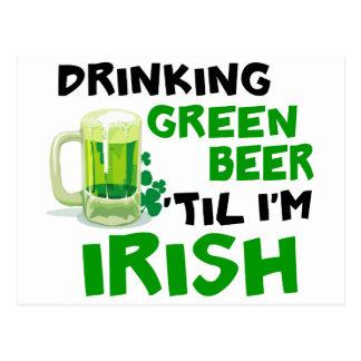 Cerveza verde de consumición 'hasta que soy el postal
