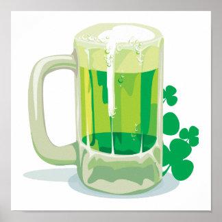 Cerveza verde irlandesa poster