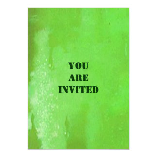 Cerveza verde para las invitaciones del fiesta del invitación 12,7 x 17,8 cm